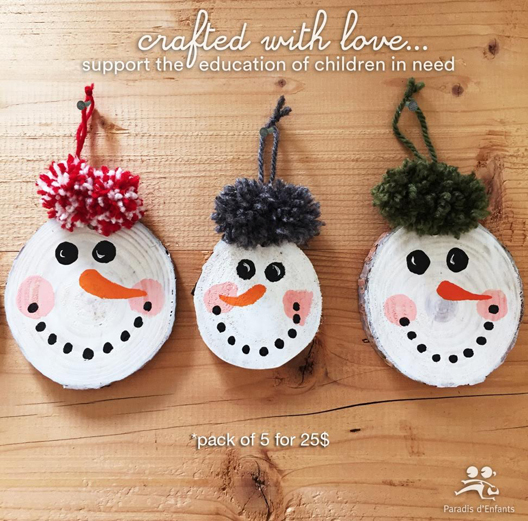 Handmade Snowmen to Support Education