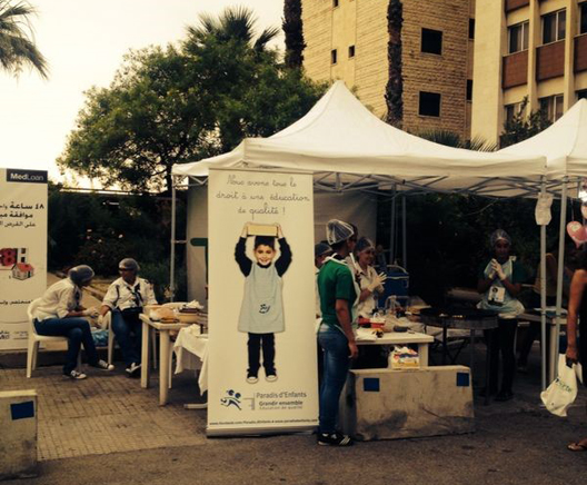 Paradis d'Enfants Scouts Raise Funds at Manakeesh Stand during Jounieh International Festival 2014